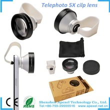 High quality zoom camera mobile phone 5x zoom lens optical lens for Iphone 6 and 6 plus