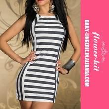 bianche ingrosso strisce nere donne sexy lingerie signora mini abito di pizzo