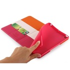 TPU Soft Cover Stand Color Matching Case for iPad Mini 1 2 3 Cover with Credit Card Slots