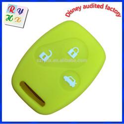 Environmental green silicone rubber car key protector for Honda CRV