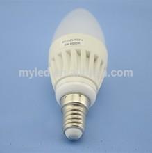 CE ROHS 2700K 3000K Warm White E14 E27 led candle bulb 5W G38 Shape