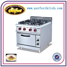 Restaurant Equipment 4 Burners Gas Stoves&Electric Oven