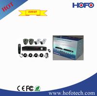 complete cctv set: 4 PCS 960H, 800TVL CAMERA + 1pc 4 Channels D1 DVR CCTV Surveillance System