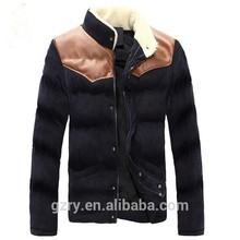 2014 men down coat leather at shoulder winter coats