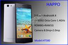 Latest low price 5.0' IPS OGS screen RAM1GB and ROM8GB 8MP camera mtk6592 octa core smart phone