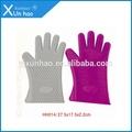 puntas de los dedos de largo guante de silicona horno