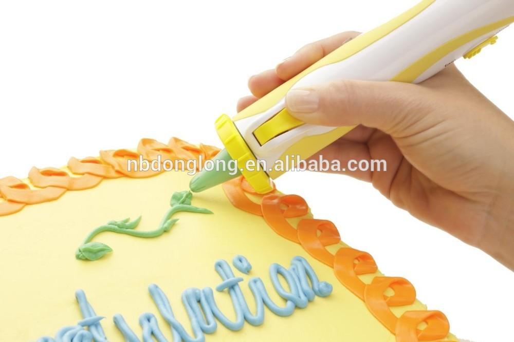 ใหม่เปลือกปากกาdecoคัพเค้กเค้กตกแต่งปากกาทะเลทรายที่ดำเนินการแบตเตอรี่