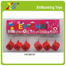 Promotional dice key chain;pu dice;dice toys