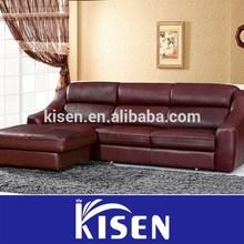 Living room furniture modern leather sofa l shape