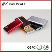 6500mAh alloy shelled high quality fashion design portable mobile power bank for iPhone6 and Samsung Note 4