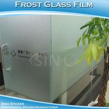 SINO STICKERS Transparent Vinyl Type Frosted Vinyl Glass Film