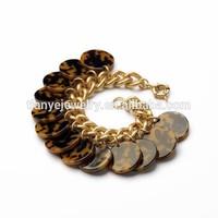 Women Sex Animal Print Charm Bracelet Resin Chain Jewelry