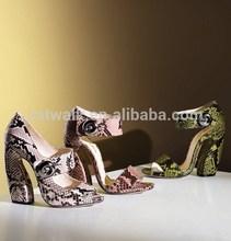 wedge heels sandals fashion wedge women sandals shoes 2014 /strange high heel shoes upper snake skin + rubber sexy & hot