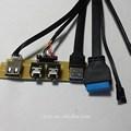 Plano usb 3.0 painel montado cabo com porta de áudio e usb2.0 porto