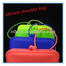 female fashion reusable silicone single shoulder strap bag