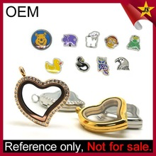 Wholesale custom charm necklace fashion locket jewelry set