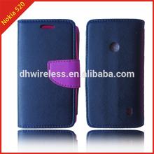 flip leather book case cover for nokia lumia 520,index card holder case for nokia lumia 520