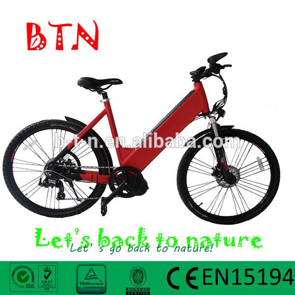 ขับเคลื่อนสูง36v/10ahแบตเตอรี่ลิเธียมและ8สนุก250wbrushlessมอเตอร์เกียร์ศูนย์กลางจักรยานไฟฟ้า