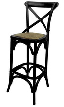 Hot sale cross-back bar chair dining room wooden french chair