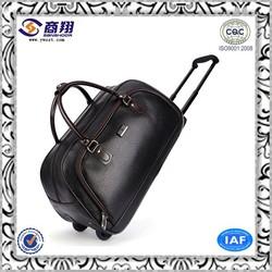 Business black pvc laptop trolley bag (TB25)
