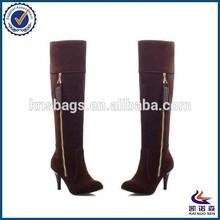 New design dark brown fashion women winter boots