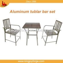 USA popular outdoor aluminum bar set patio bar table