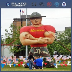 customize/giant inflatable America muscleman cowboy,inflatable cartoon soldier for party/event/advertising/promotion
