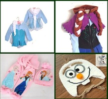 New Frozen Princess Elsa Anna Pink warm Beanie Hat Cap and scarf olaf cap