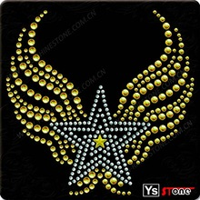 Hot accessories heart and wing pendant for clothes
