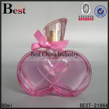 90ml glass bottle for perfume , apple heart shaped crystal glass bottle for perfume