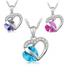 Hottest Euro and US Style Jewelry, Fashion Jewelry Necklace crystal Necklace in 3 Colors