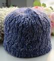 de color púrpura de lurex sombreros de punto