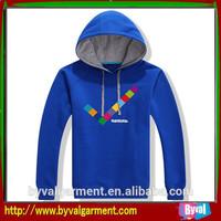 Kids printed plain cotton fleece hoodie
