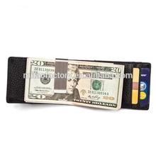 2015 New Fashion Vintage Black and Brown Color Mens Wallets Purse Genuine Leather Money Clip Card Holder Wallet