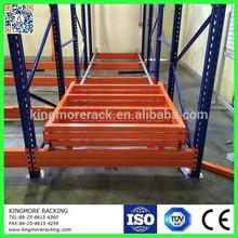 warehouse storage push back pallet rack system