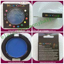 STOCK round dark blue color chart hair dye temperary hair color chalk