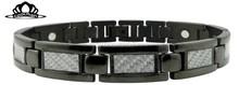 Original classical wholesale stainless Steel carbon fiber bracelet