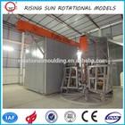 3.5m turrent rotational molding rolling machine plastic drum 200 liters