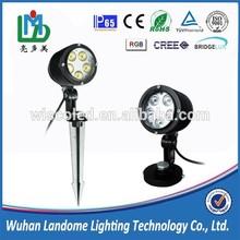 IP65 5X1W 5X3W R/G/B/RGB/RGBW led landscape lights, LED garden spot light, LED garden light