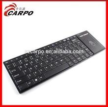 2014 Newest Design Good Feeling Touch 2.4G HZ wireless slim Keyboard