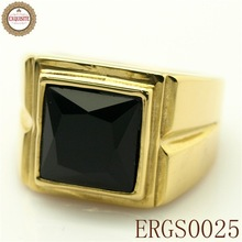 make money selling jewelry stainless steel square ring black stone
