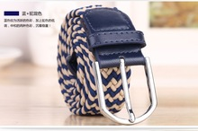 2015 style factory lands end stretch belts with good quality