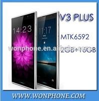 "Newest Original Inew V3plus MTK6592 Octa- Core Smartphone 5"" HD Screen 2G RAM 16G ROM Android 4.2 13MP Camera NFC OTG Thin Phone"
