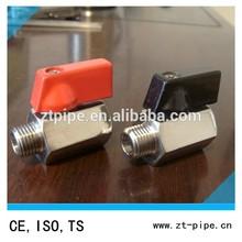 "Series stainless Mini 304 water valve, Lever, 1/4"" NPT Male x NPT Female"
