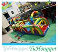 Prix usine tunnel gonflable, parcours d'obstacles gonflables pour les enfants aire de jeux extérieure