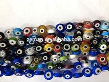 Hotsale Skyblue Evil Eye Lampwork Loose Beads Findings Fit Crafts