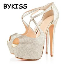 High quality 2015 New Women Style High Thin Heels Sandal party women pumps Wedding sandals
