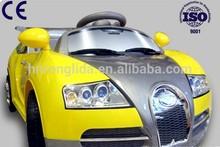 Remote control kids electric ride on car bugatti wholesale