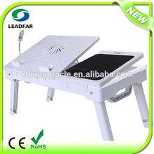 Multifunctional Portable Adjustable folding computer desk With 4 Port Usb Hub