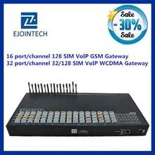 Ejontech 32 port voip gsm gateway/BTS 32/128 sim card slots gsm transmitter and receiver